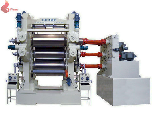 3 Roll Soft PVC Calender Machine Oil Heating wrapped by film and fixed in container